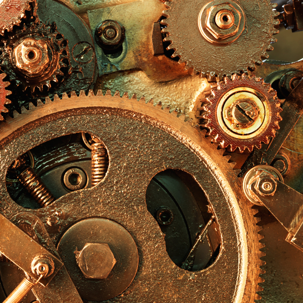 Фотообои часы и шестеренка (retro-vintage-0000199)