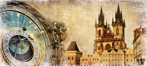 Фотообои Староместская площадь в Праге (retro-vintage-0000373)