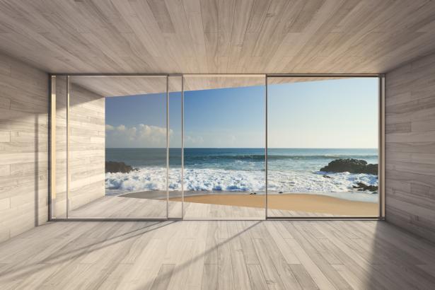 Фотообои окно на море (sea-0000389)