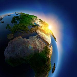 Фотообои планета земля и солнце (space-0000029)
