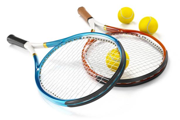 Фотообои теннисные ракетки и мячи (sport-0000142)