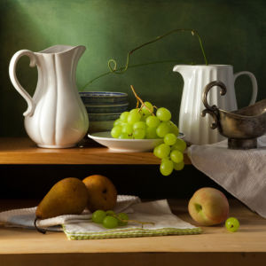 Фотообои натюрморт кухонные полочки (still-life-0081)