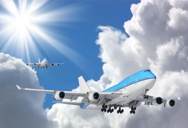 Фотообои грузовые самолёты в полёте (transport-0000070)