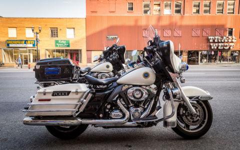 Фотообои с мотоциклом полиции (transport-302)
