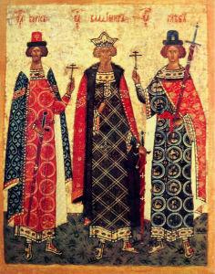 Икона князь Владимир, Борис и Глеб (ukraine-0048)