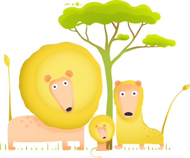 Фотообои семейство львов (child-461)
