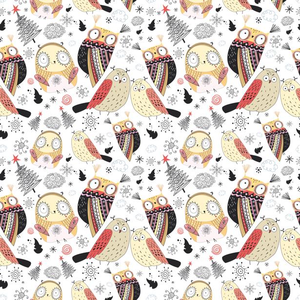 Детские фотообои совы, совята (children-0000136)