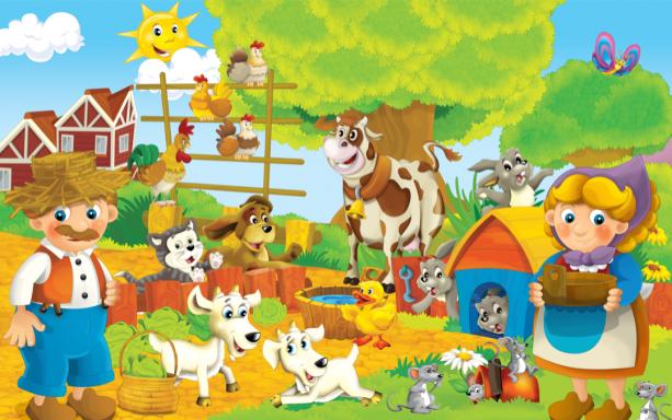 Детские фотообои сельское хозяйство (children-0000373)