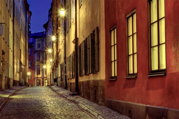 Фотообои улица в старом городе (city-0000320)