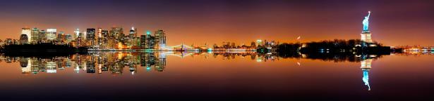 Фотообои вечерняя панорама манхеттен (city-0000494)