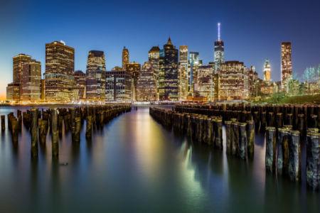 Небоскребы вид с океана Фотообои (city-0001339)