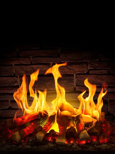 Фотообои камин с горящим огнем (fire-011)