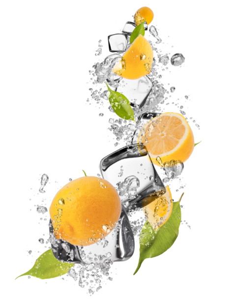 Фотообои на кухне лимон в брызгах (food-0000300)