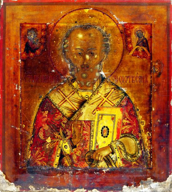 Икона церкви, древняя (icon-00093)