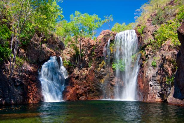 Фотообои с природой горный водопад 3D (nature-00144)
