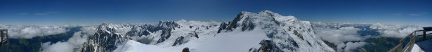 Фотообои панорама горных вершин снежные пики (nature-00277)