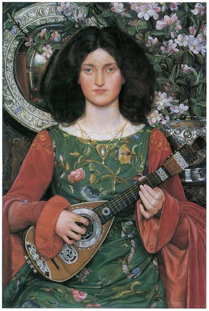 Картина женщина с инструментом (pf-23)