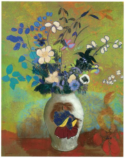 цветы в вазе Одилон Редон (pf-91)