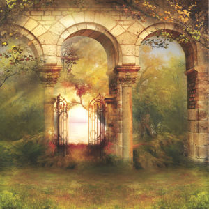 Фотообои ворота в сад эдема (printmaking-0000007)