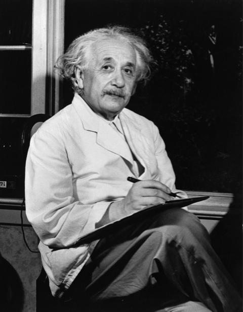 Альберт Энштейн, физик (retro-vintage-0000304)
