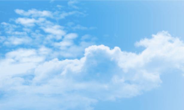 Фото обои голубое небо с облаками (sky-0000007)