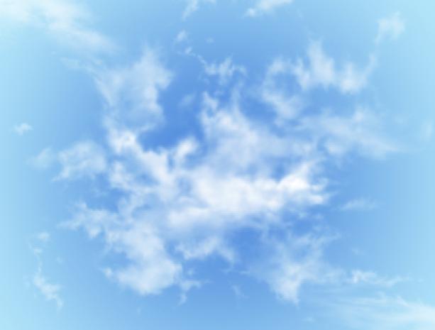 Фотообои небо с облаком по центру (sky-0000071)