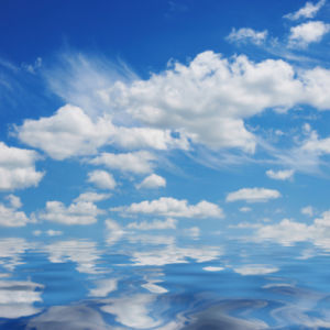 Фотообои небо с облаками отражение (sky-0000095)