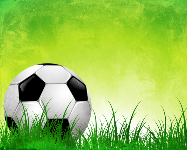Фотообои мяч поле трава (sport-0000028)