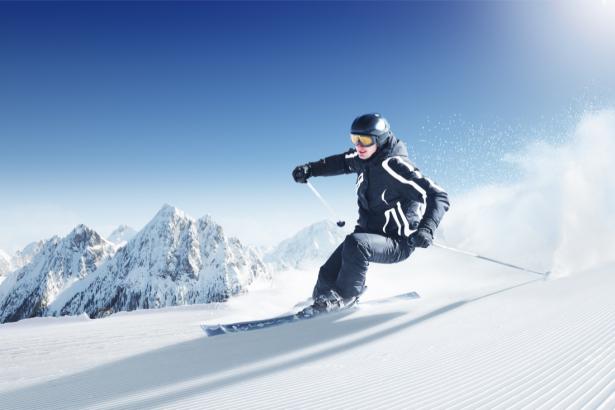 Фотообои лыжник горы (sport-0000132)