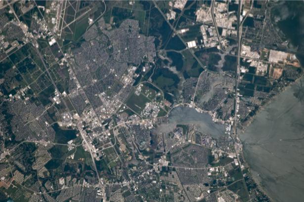 Фотообои на заказ поселения аэрофотосъемка (terra-00160)