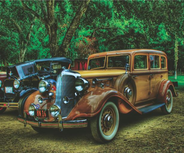 Фотообои ретро автомобиль парк (transport-0000015)