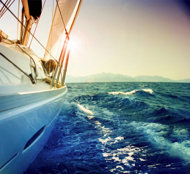 Фотообои яхта в море фото (transport-0000150)