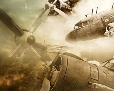 Фотообои самолеты старинные (transport-0000247)