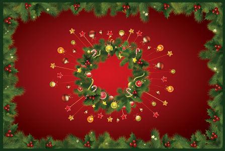 Скатерть Новогодние украшения (0018)