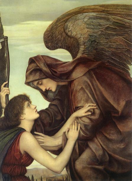 Фото обои картина ангел Эвелин де Морган (angel-00045)