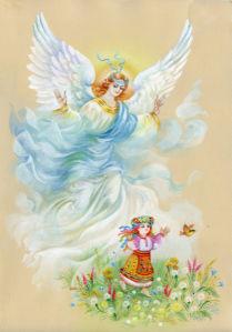 Обои Ангел рисунок (angel-00063)
