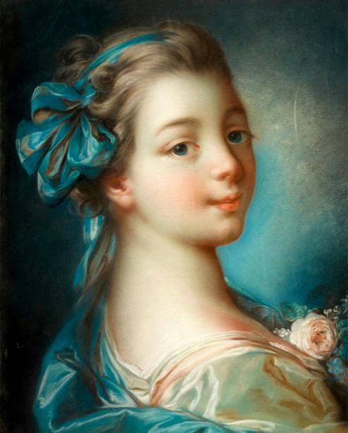 портрет барышни с розочкой, Франсуа Буше (art-0000123)