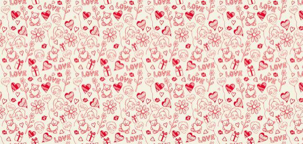 Фотообои сердечки 14 февраля (background-0000201)