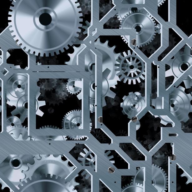 Фотообои часовой механизм (background-0000342)