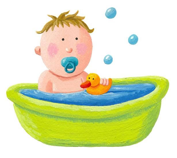 Ребенок в ванне детские фотообои (children-0000306)