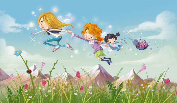 Детские фотообои - полет (children-0000344)