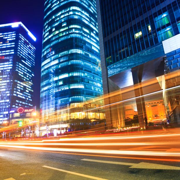 Фотообои ночной город, небоскребы (city-0000024)
