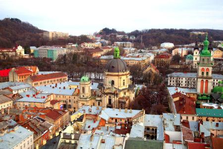 Фотообои Львiв, собор, костел (city-0000645)