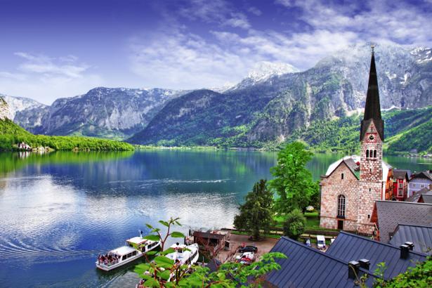 Фотообои австрийские горные пейзажи (city-0001052)