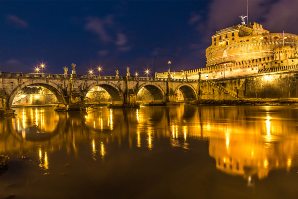Фотообои Италия мост Рим Сант Анджело (city-0001274)