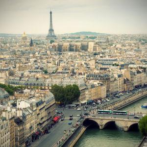 Фотообои Париж вид на город фото (city-0001279)