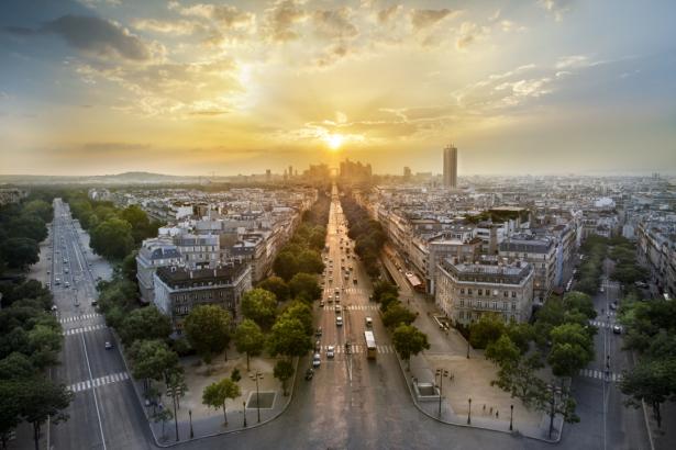 Фотообои Париж вид на город (city-0001283)