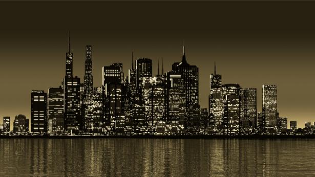 Фотообои небоскребы ночные небоскребы (city-0001345)