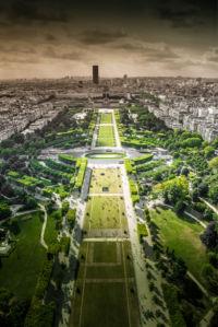 Фотообои Вид на Париж с Эйфелевой башни (city-0001366)