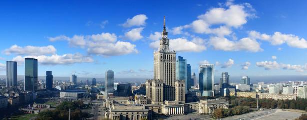 Фотообои Панорама Варшавы (city-1480)